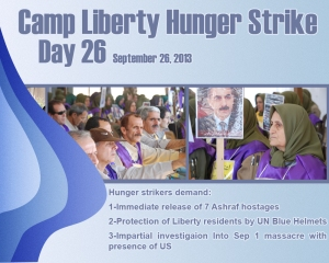 camp Liberty hunger strike - day 26