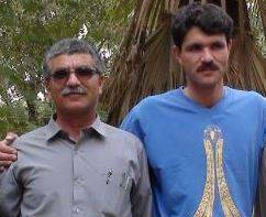 Hanif Garmabi and his father, Abbas, in camp Ashraf