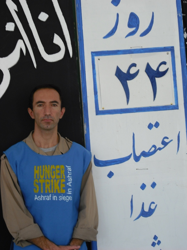 Babak, on hunger strike in Ashraf, 2009