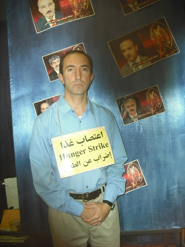 Babak, on hunger strike in Camp Liberty, 2013