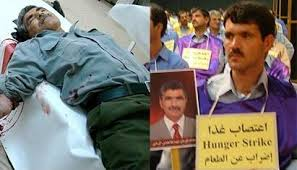 Left: Abbas Garmabi, killed by Iraqi forces. Right: Hanif Garmabi on hunger strike