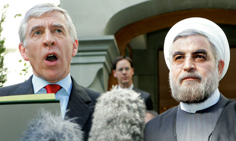 Hassan Rouhani and Jack Straw