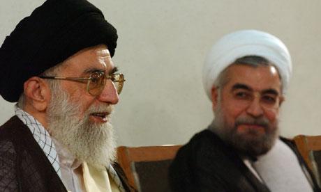 Rouhani and Khamenei