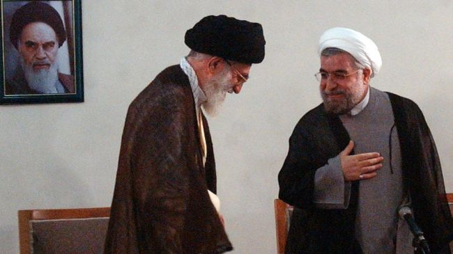 Rouhani-and-Khamenei