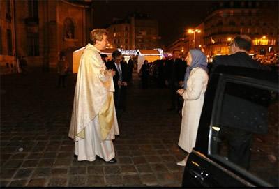 maryam Rajavi in christmas